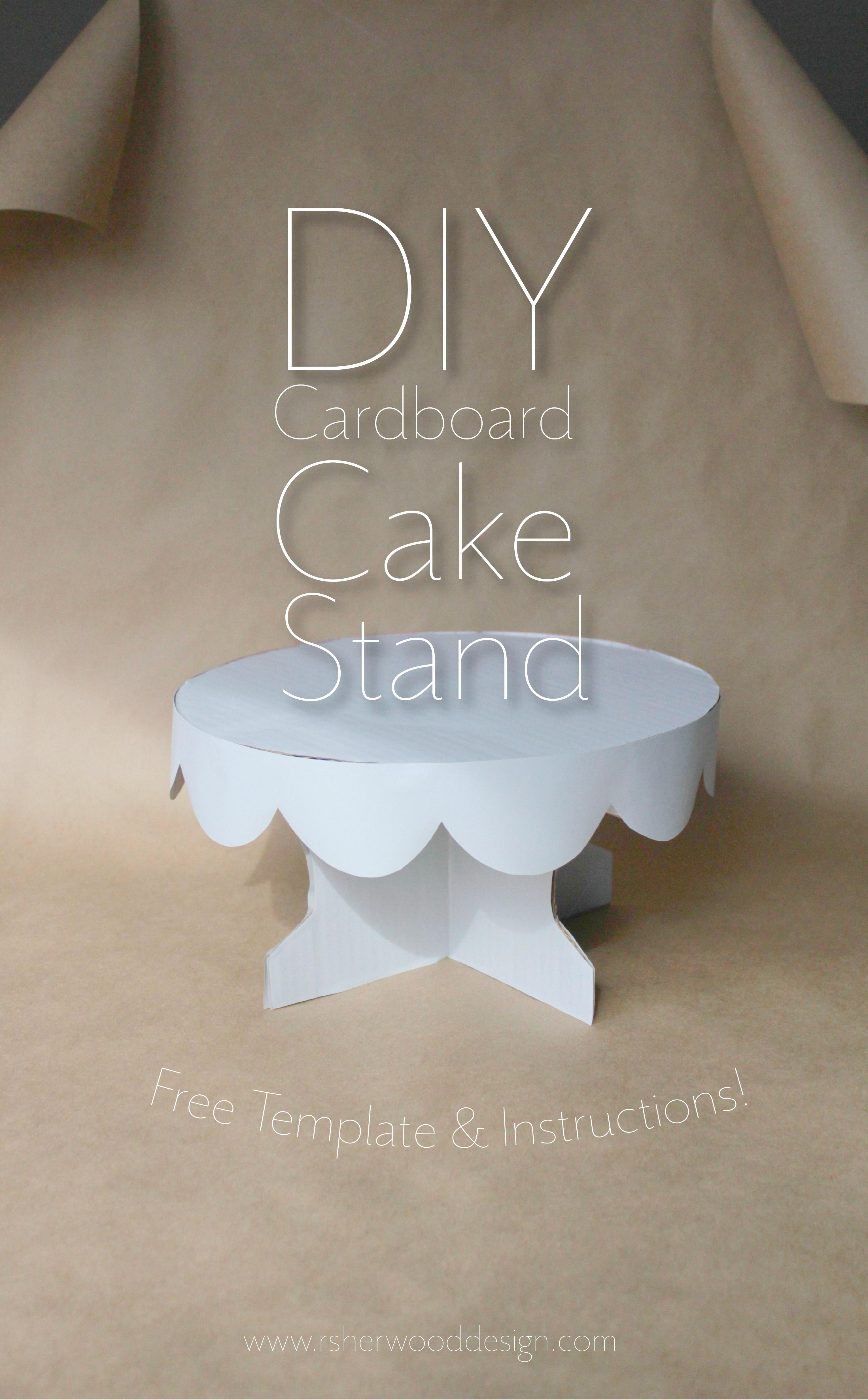 Cake Stand Cardboard Template